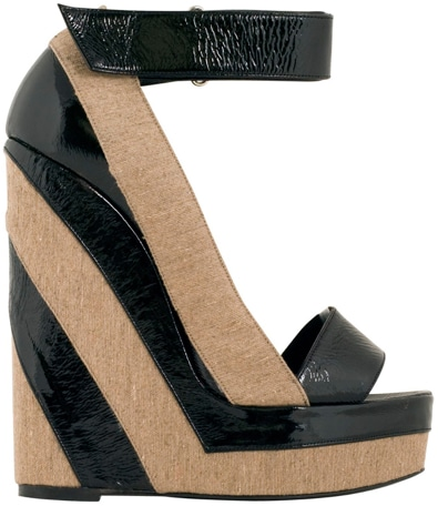 Pierre Hardy striped wedge sandal