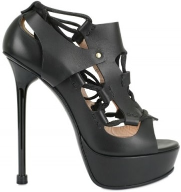 Versace rope & leather platform sandal