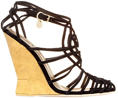 Yves Saint Laurent web wedge sandal