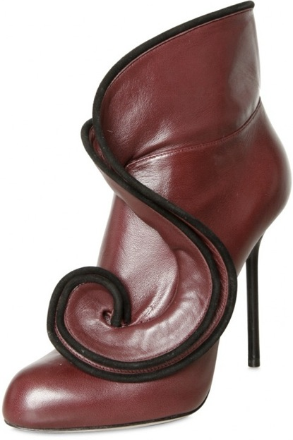 Sergio Rossi suede piping leather boot Fall 2011