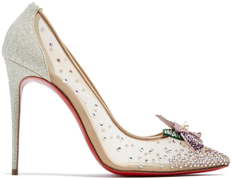 Christian Louboutin Feerica crystal-flower embellished pumps