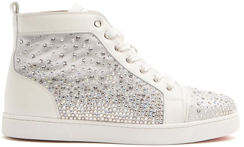 Christian Louboutin Galaxtidonna crystal-embellished leather trainers