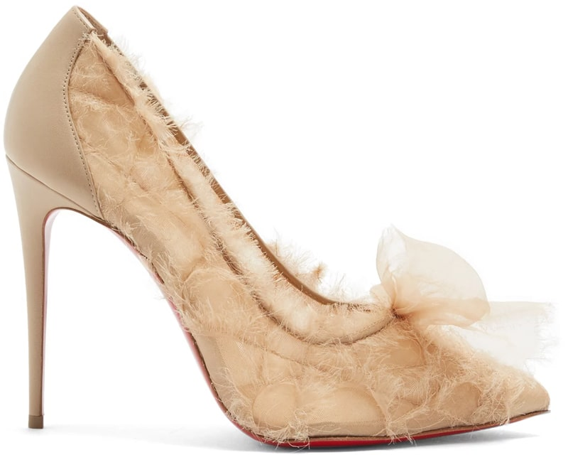 Christian Louboutin Toufrou 100mm organza pumps