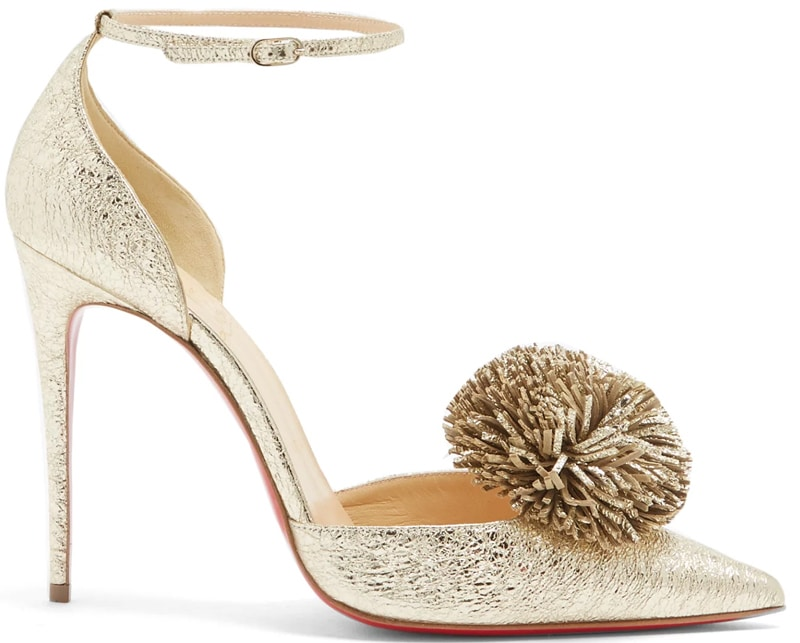Christian Louboutin Tsarou 100mm pompom-embellished leather pumps