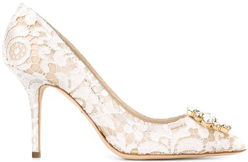 Dolce & Gabbana Bellucci lace embellished pumps