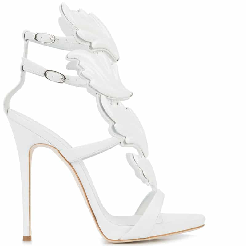Giuseppe Zanotti Wing detailed leather sandal