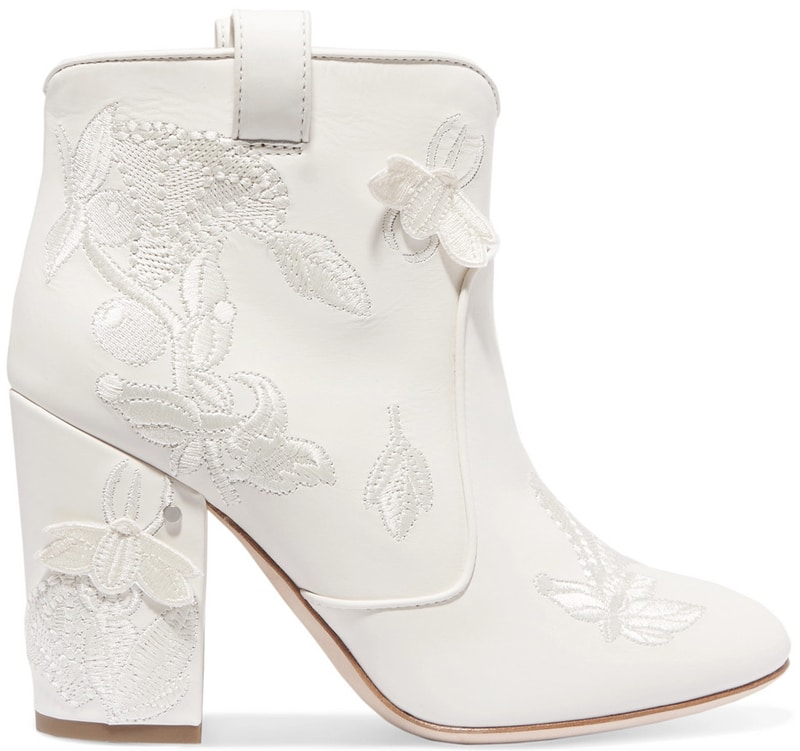 Laurence Dacade Pete embroidered leather ankle boots