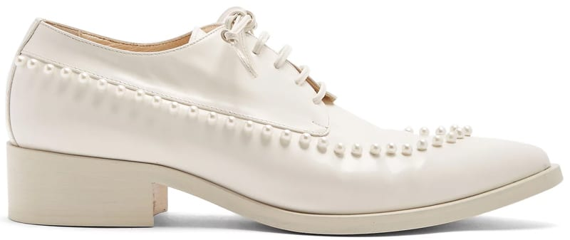 Simone Rocha Faux-pearl embellished leather shoes