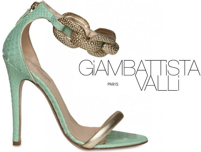 Giambattista-Valli-green-spring-2012-python-chain-sandal