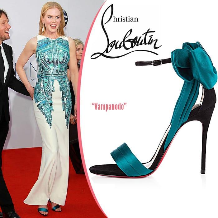 Nicole-Kidman-Christian Louboutin Vampanodo sandals-Emmy-Awards
