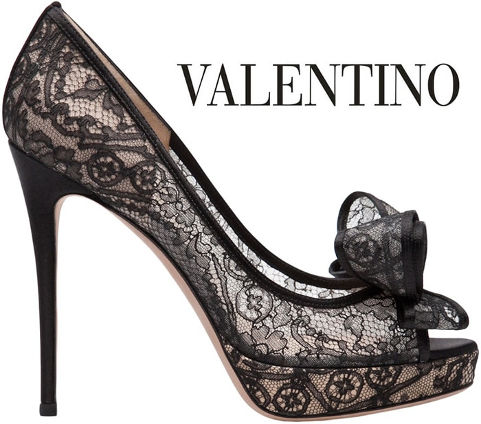 Valentino-lace-bow-peep-toe-pump