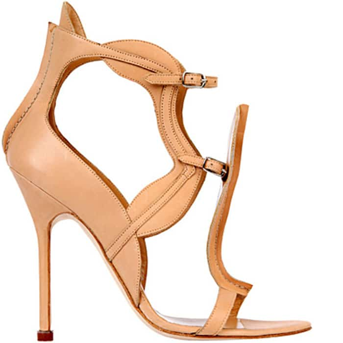 Manolo-Blahnik-Antonio-Berardi-Spring-2013-leather-sandal
