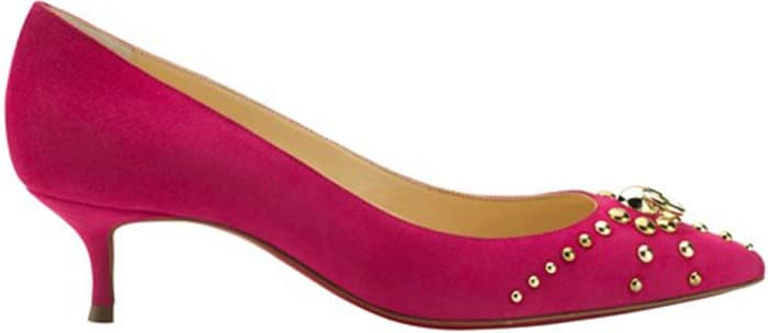 Christian-Louboutin-pink-suede-door-knock-Spring-2014