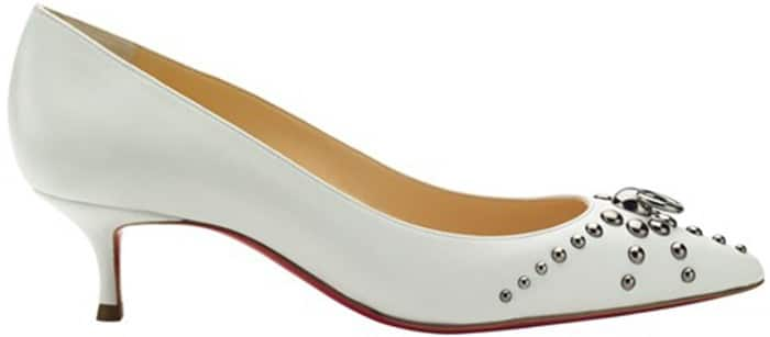 Christian-Louboutin-white-leather-door-knock-pump