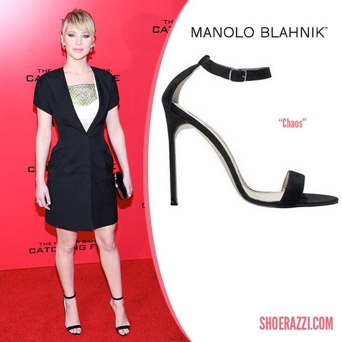 Manolo-Blahnik-Chaos-Sandal-Jennifer-Lawrence