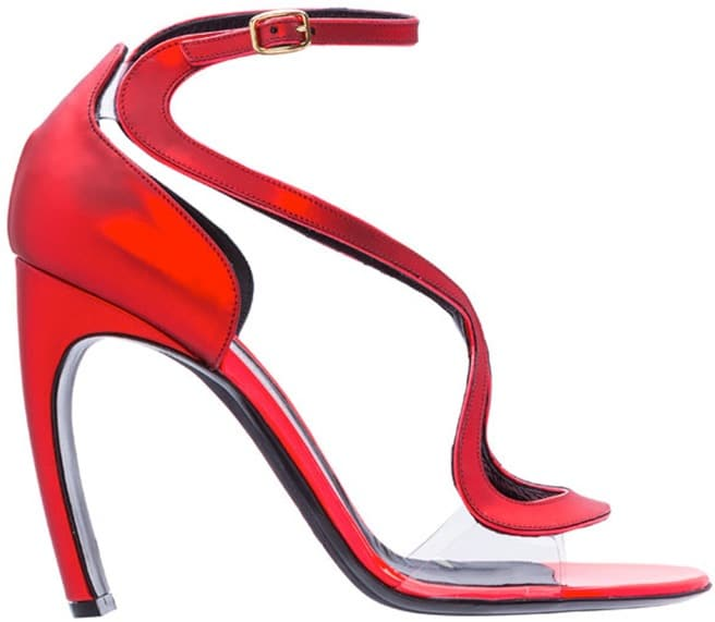 Nicholas-Kirkwood-Spring-2014-Collection-red-leather-PVC-sandal