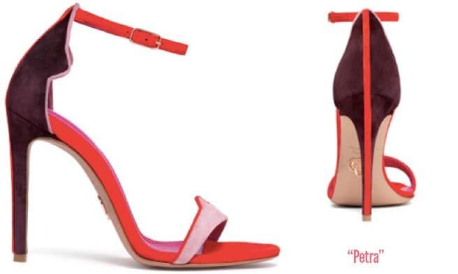 Oscar-Tiye-Petra-red-purple-suede-ankle-strap-sandal