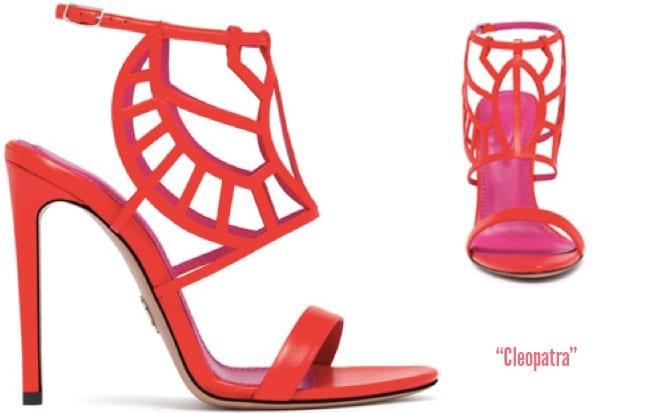 Oscar-Tiye-Spring-2014-red-leather-Cleopatra-sandal