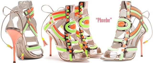Sophia-Webster-Phoebe-embellished-rose-gold-neon-sandals-Resort-2014