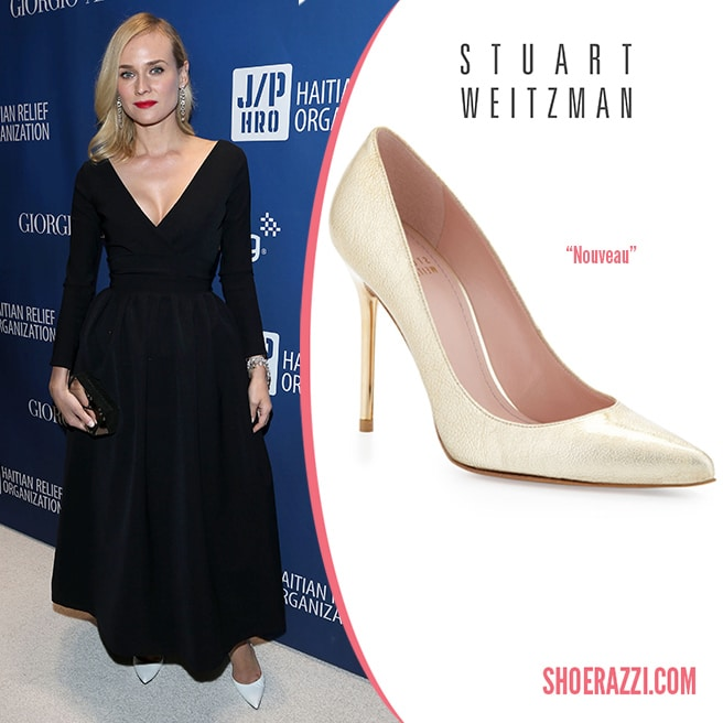 Stuart-Weitzman-Nouveau-pumps-white-leather-Spring-2014-Diane-Kruger