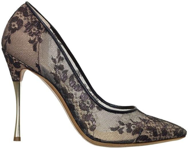 Nicholas-Kirkwood floral lace pump