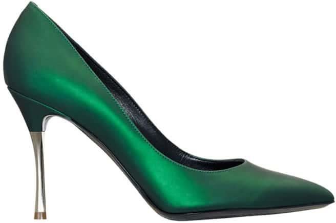 Nicholas Kirkwood green leather pump
