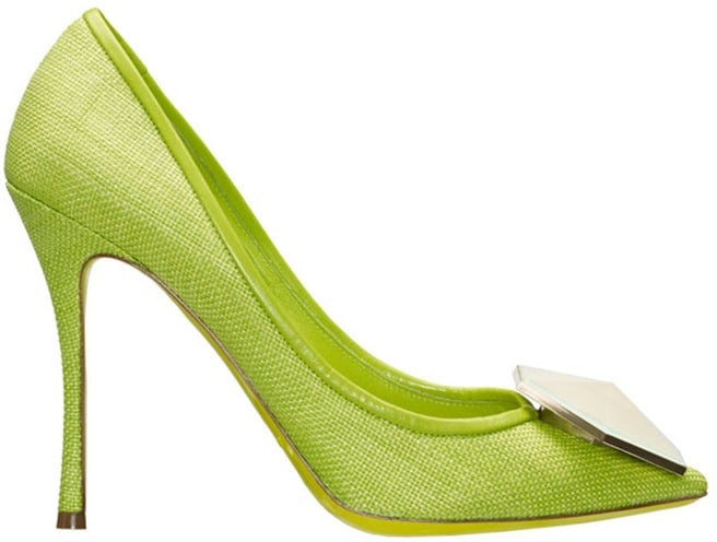 Nicholas Kirkwood lime green pump