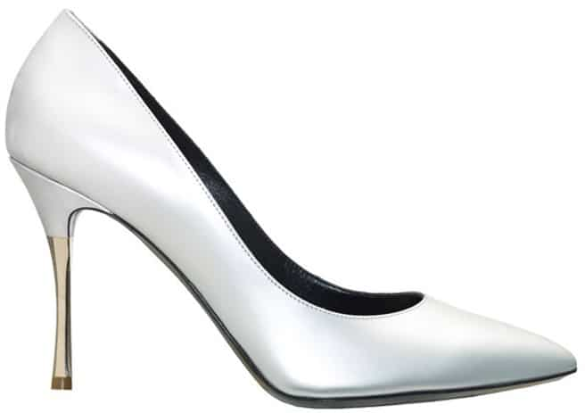 Nicholas Kirkwood white leather pump