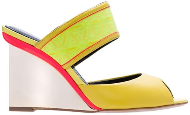 Nicholas Kirkwood peep toe mule sandal wedge