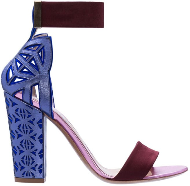 Nicholas Kirkwood for Peter Pilotto ankle strap sandal