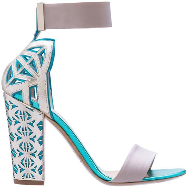 Nicholas Kirkwood for Peter Pilotto ankle strap sandal Spring 2014
