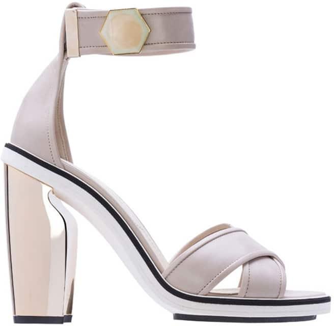 Nicholas Kirkwood leather ankle strap platform sandal