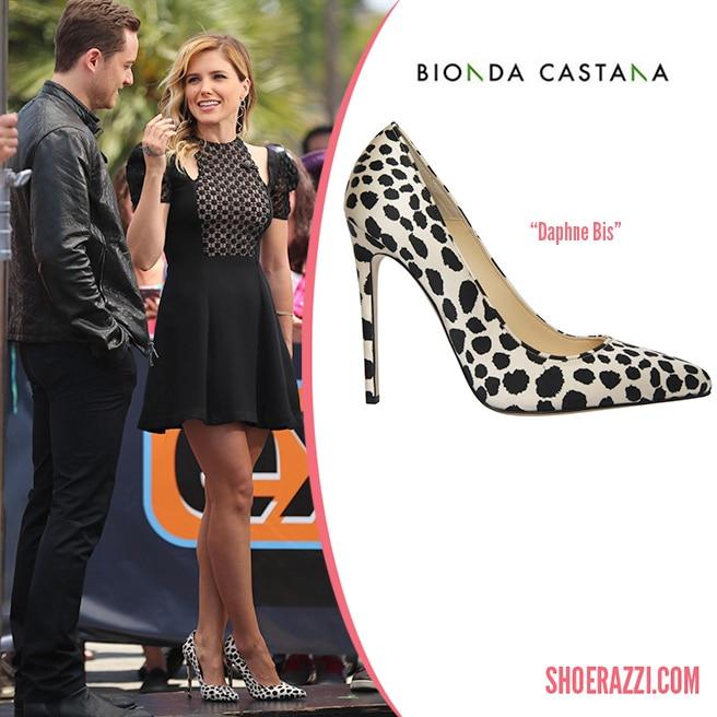 Bionda-Castana-Dalmatian-Print-Silk-Pump-Sophia-Bush