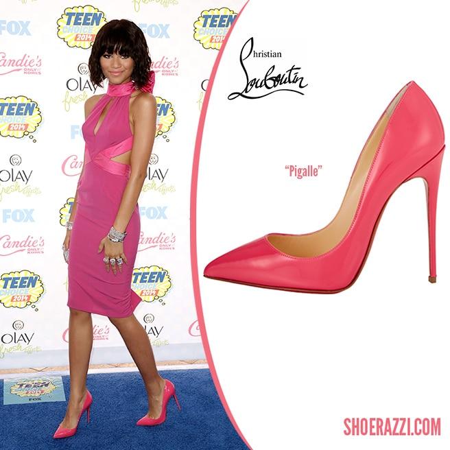 super popular 75747 6bf22 Zendaya Coleman in Christian Louboutin Pigalle Pink Patent ...