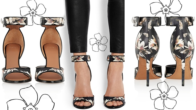 Givenchy-Magnolia-Moth-Print-Leather-Sandal