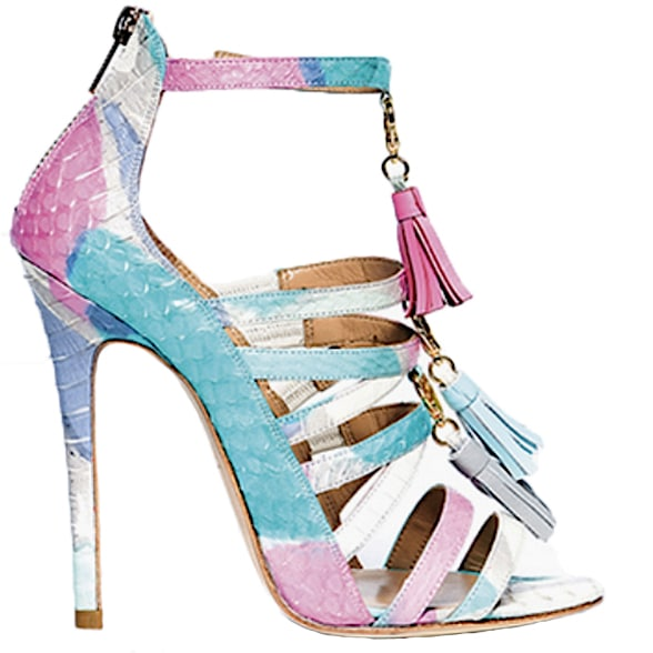 Alejandra-G-Spring-2016-snakeskin-strappy-sandal