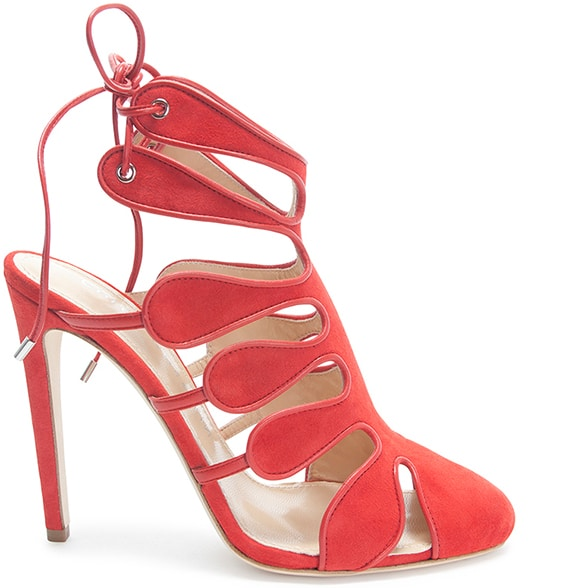 Chloe-Gosselin-Spring-2016-shoes-red-suede-cutout