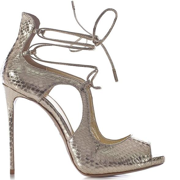 Le-Silla-metallic-snakeskin-python-strappy-shoe-Spring-2016
