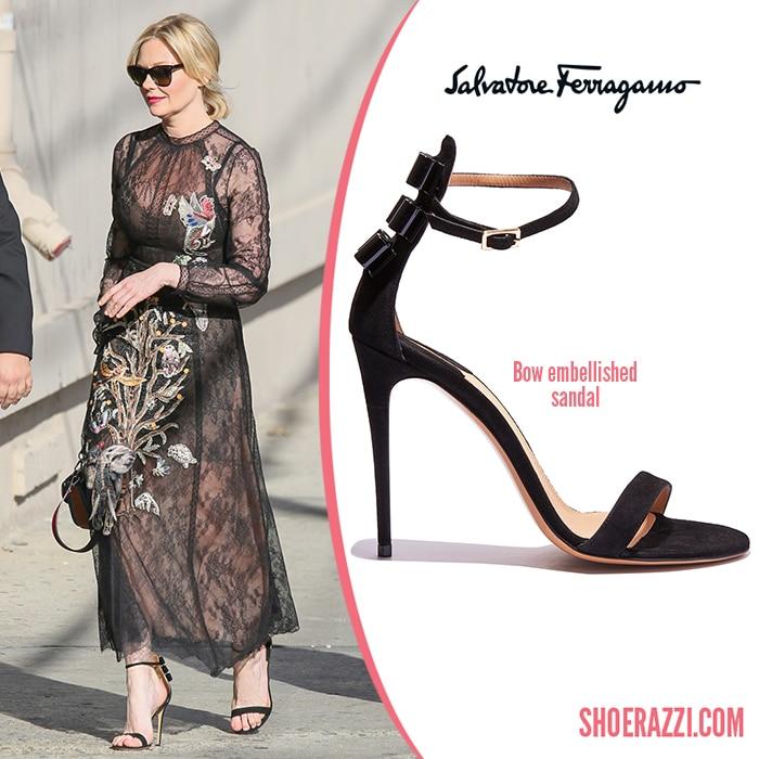 Salvatore-Ferragamo-Bow-Embellished-Sandal-Kirsten-Dunst