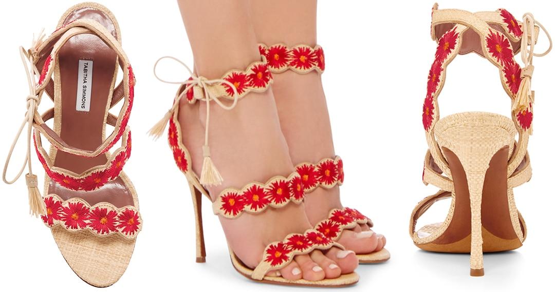 Tabitha-Simmons-strappy-sandal-raffia-flower-Spring-2016