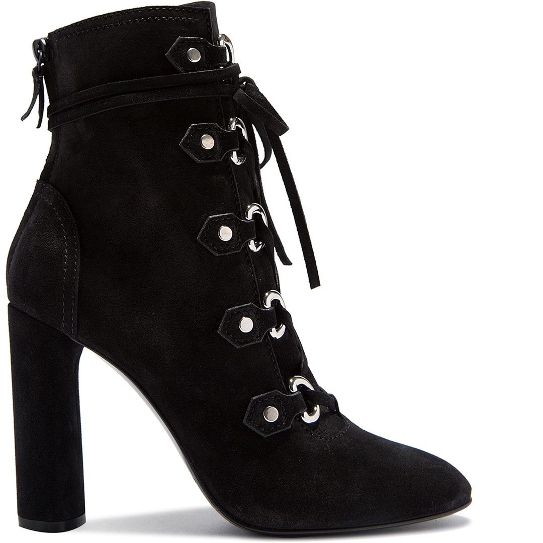 casadei-daytime-black-suede-lace-up-bootie