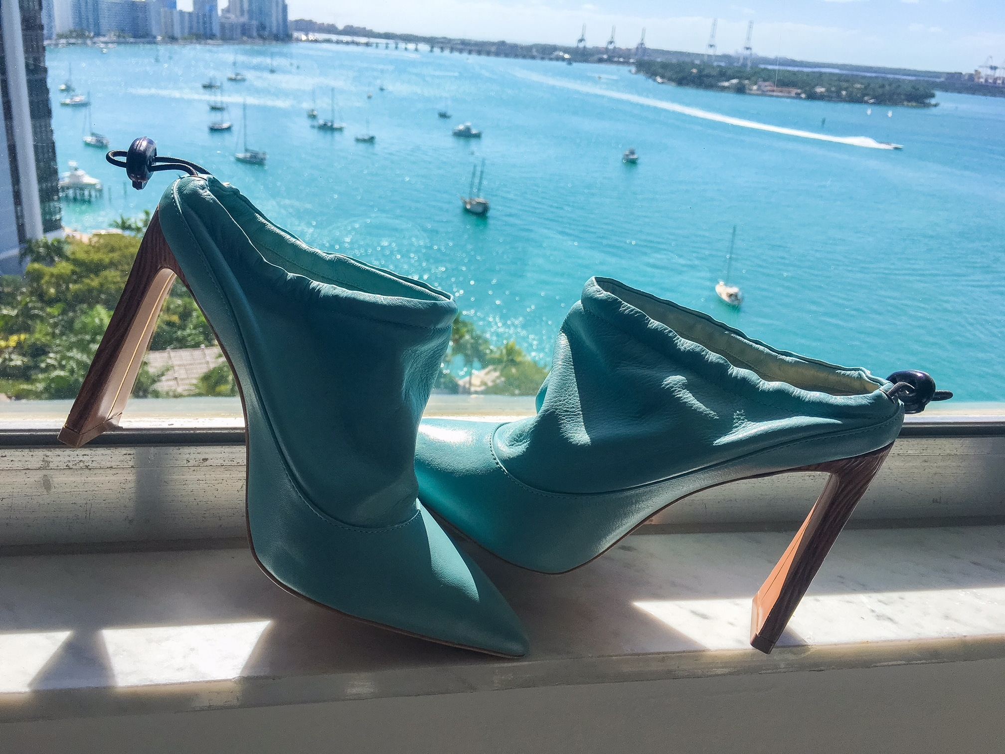 Teal-leather-mule-Yevrah