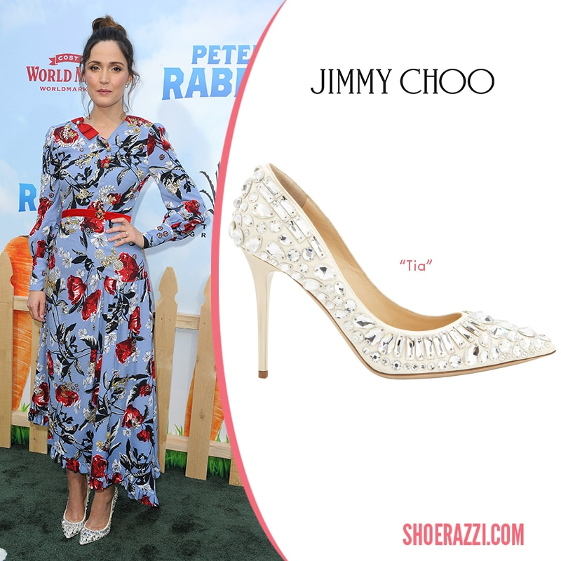 Jimmy Choo Tia Swarovski Embellished Pump Rose Byrne
