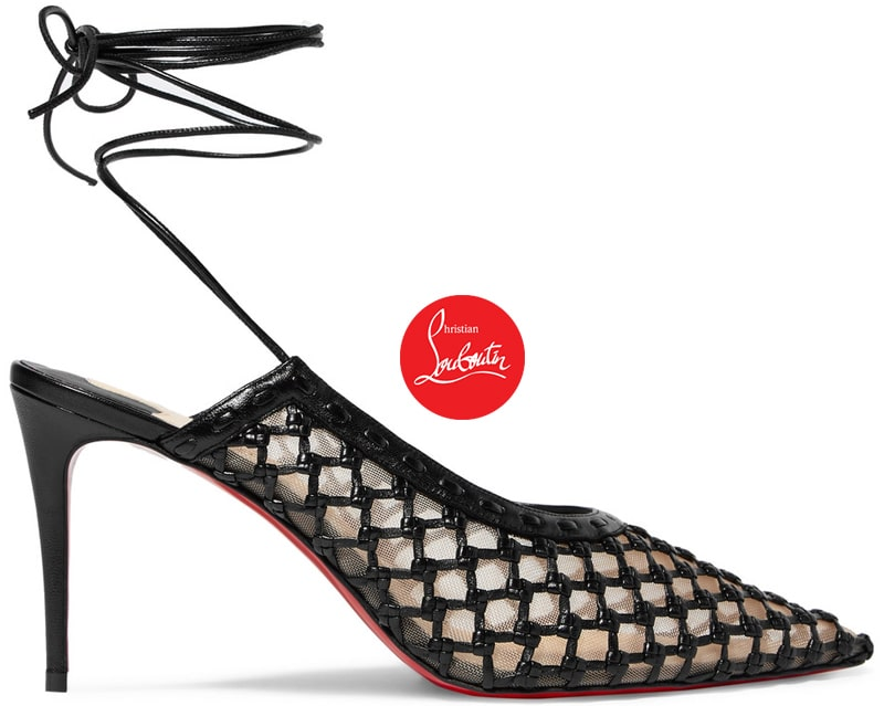 Christian Louboutin Roland Mouret Cage and Curry Woven Pump ShoeRazzi