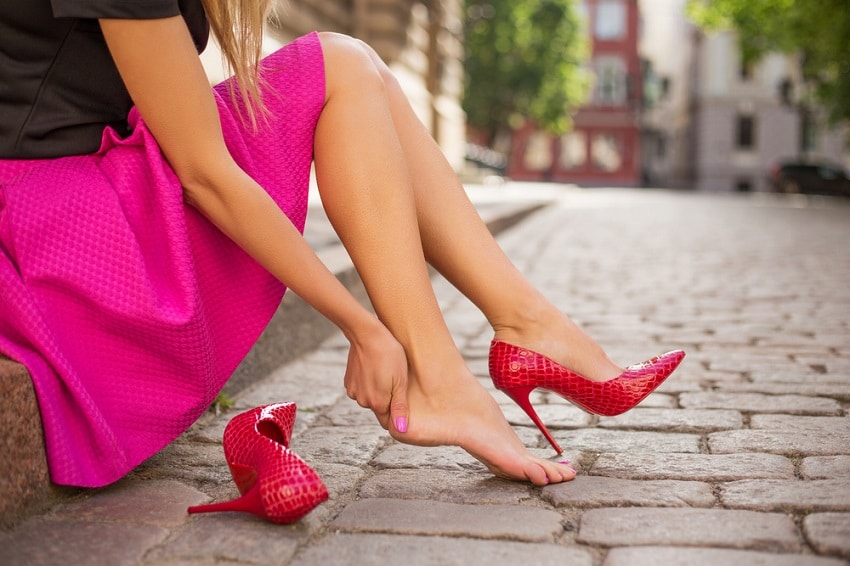 How to Keep Heels from Slipping Out of Shoes