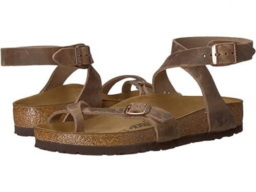 Birkenstock Yara Leather Ankle-Strap Sandal