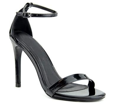 Premier Standard Women's Pointed Toe Studded Strappy High Heel Leather Pumps Stilettos Sandals