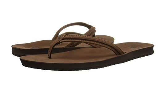 Reef Cushion Bounce Swing Leather Flip Flop