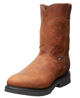 Justin Original Men's Double Comfort Pull-On Conductor Work Boot