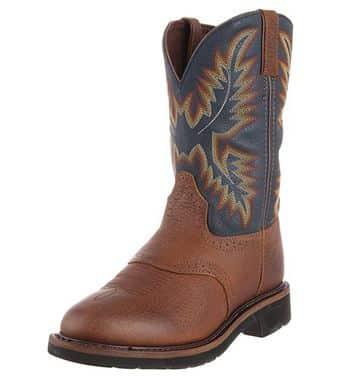 Justin Original Men's Stampede Steel Toe Western Work Boot